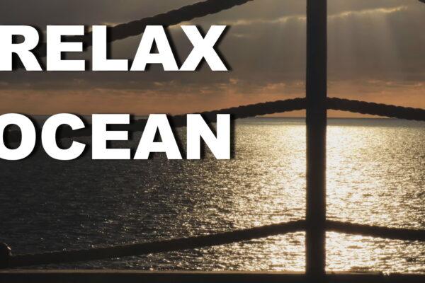 Релакс море ночью, звуки моря, шум прибоя